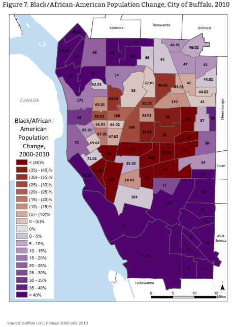 Black - African-American population change 2000-2010