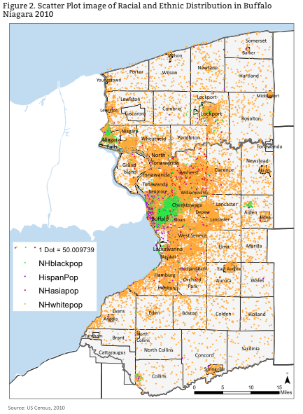 racial and ethnic distribution in buffalo niagara
